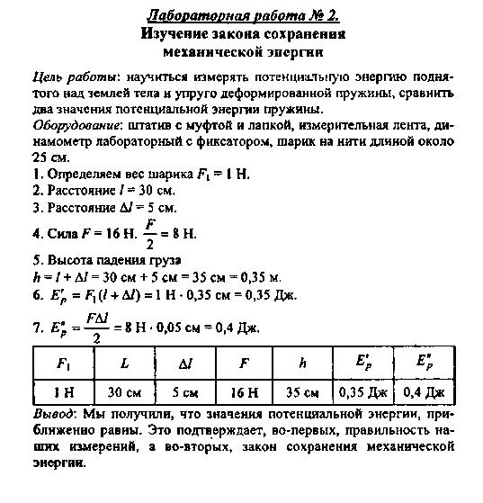 Гдз По Физике По Учебнику 10 Класс Мякишев Лабораторные