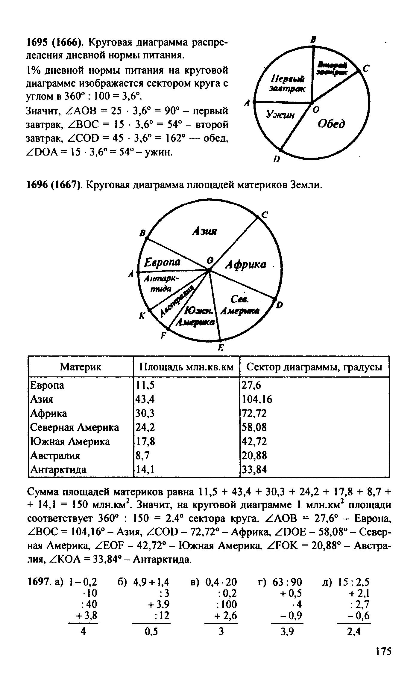 1696 5 класс гдз математика виленкин